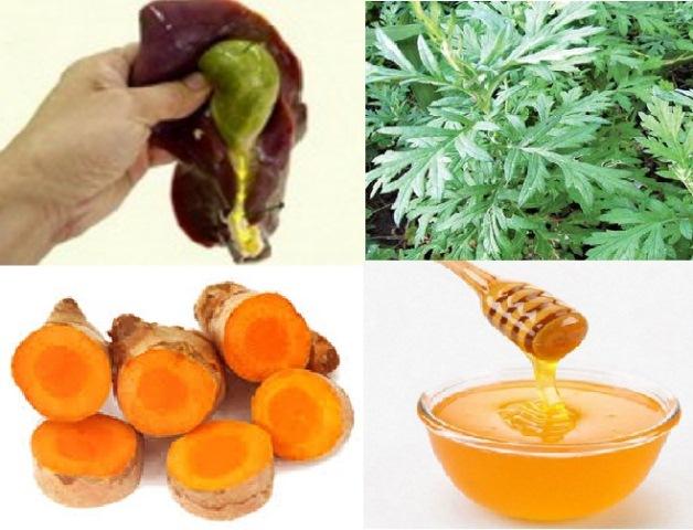 Chữa viêm đại tràng bằng mật ong, nghệ, mật lợn, ngải cứu 1