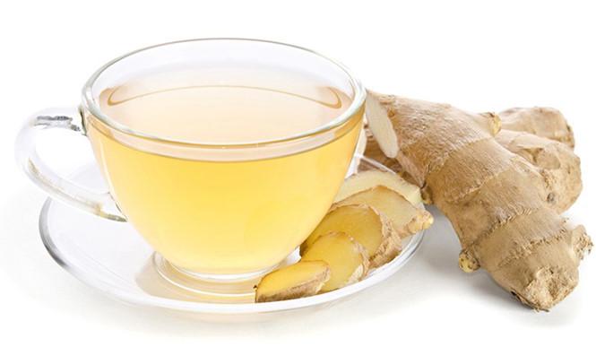 Uống trà gừng 1